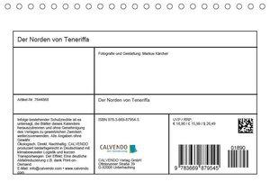 Der Norden von Teneriffa (Tischkalender 2019 DIN A5 quer)