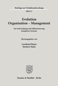 Evolution - Organisation - Management