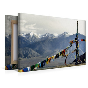 Premium Textil-Leinwand 45 cm x 30 cm quer Gebetsfahnen vor dem