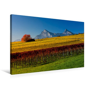 Premium Textil-Leinwand 75 cm x 50 cm quer Rebberge bei Jenins