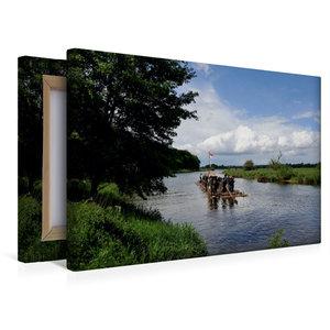Premium Textil-Leinwand 45 cm x 30 cm quer Winser Flößer auf der