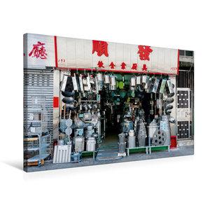 Premium Textil-Leinwand 75 cm x 50 cm quer Yau Ma Tei