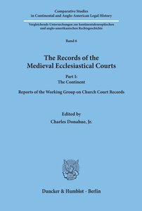 The Records of the Medieval Ecclesiastical Courts I