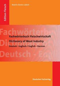 Fachwörterbuch Fleischwirtschaft