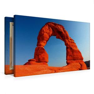Premium Textil-Leinwand 75 cm x 50 cm quer Delicate Arch, Arches