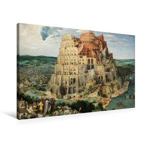 Premium Textil-Leinwand 90 cm x 60 cm quer Turmbau zu Babel - 15