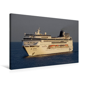 Premium Textil-Leinwand 75 cm x 50 cm quer Kreuzfahrtschiff MSC