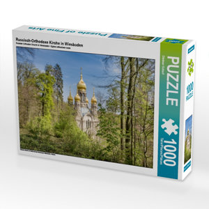 Russisch-Orthodoxe Kirche in Wiesbaden 1000 Teile Puzzle quer
