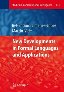 New Developments in Formal Languages and Applications