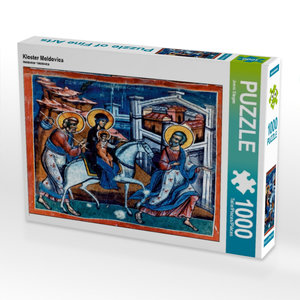 Kloster Moldovica 1000 Teile Puzzle quer