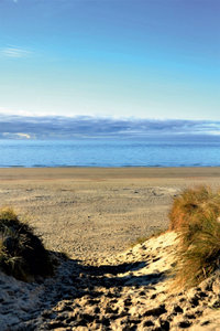 Premium Textil-Leinwand 50 cm x 75 cm hoch Strand von Wangerooge