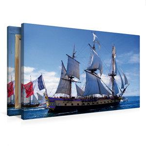 Premium Textil-Leinwand 75 cm x 50 cm quer Fregatte Hermione