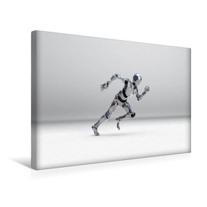 Premium Textil-Leinwand 45 cm x 30 cm quer Roboter