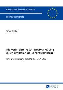 Die Verhinderung von Treaty Shopping durch Limitation-on-Benefit