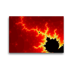 Premium Textil-Leinwand 45 cm x 30 cm quer Fraktales Inferno