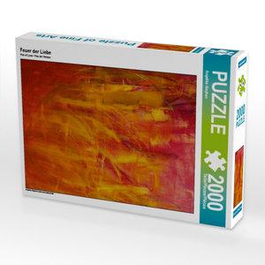 Feuer der Liebe 2000 Teile Puzzle hoch