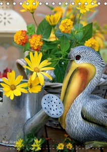 Fröhlich-bunte Gartendekos