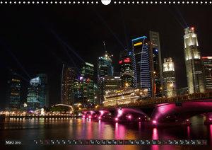 Singapur - Die Farben der Nacht (Wandkalender 2019 DIN A3 quer)