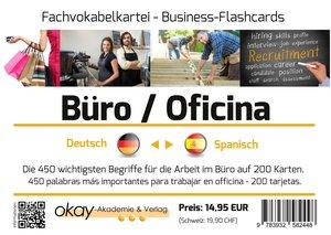 """Fach - Vokabelkartei \""""Büro / Office / Arbeitsplatz\"""" - Deutsch"""