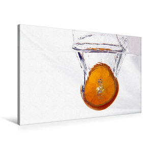 Premium Textil-Leinwand 90 cm x 60 cm quer Orange