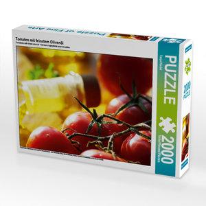 CALVENDO Puzzle Tomaten mit feinstem Olivenöl 2000 Teile Lege-Gr