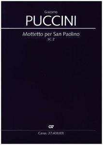 Mottetto per San Paolino, Klavierauszug