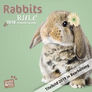Rabbits Rule - Kaninchen 2019 - 18-Monatskalender