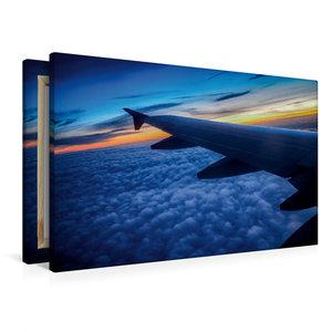 Premium Textil-Leinwand 90 cm x 60 cm quer Über den Wolken