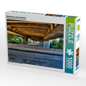 CALVENDO Puzzle Abendsonne unter der Brücke 1000 Teile Lege-Größ