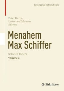 Menahem Max Schiffer: Selected Papers Vol. 2