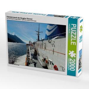 Fährfahrt durch den Douglas Channel 2000 Teile Puzzle quer