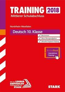 Training Mittlerer Schulabschluss NRW 2018 - Deutsch inkl. Onlin
