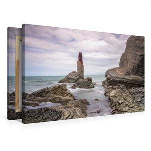 Premium Textil-Leinwand 75 cm x 50 cm quer Tuahine Lighthouse