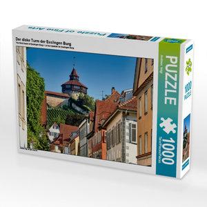 Der dicke Turm der Esslingen Burg 1000 Teile Puzzle quer