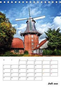 Historische Windmühlen an der Friesischen Mühlenstraße / Geburts