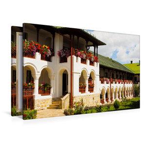 Premium Textil-Leinwand 120 cm x 80 cm quer Kloster Agapia
