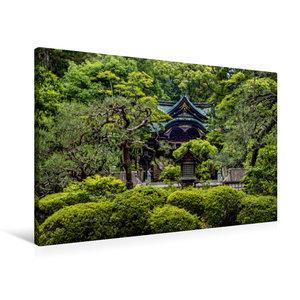 Premium Textil-Leinwand 90 cm x 60 cm quer Okazaki Tempel, Kyoto