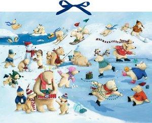 Wandkalender - Fröhliche Eisbären-Weihnacht