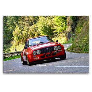 Premium Textil-Leinwand 120 cm x 80 cm quer Lancia Fulvia Zagato
