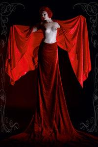 Premium Textil-Leinwand 60 cm x 90 cm hoch Rot Sinnlichkeit im J
