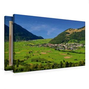 Premium Textil-Leinwand 75 cm x 50 cm quer Reschenpass