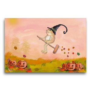 Premium Textil-Leinwand 75 cm x 50 cm quer Halloween im Wald