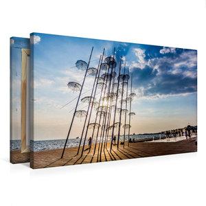 Premium Textil-Leinwand 75 cm x 50 cm quer Umbrellas Skulptur in