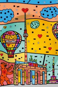 Premium Textil-Leinwand 60 cm x 90 cm hoch Berlin