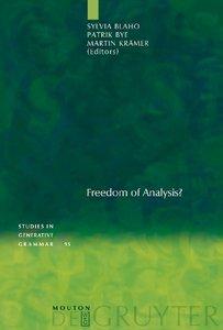 Freedom of Analysis?