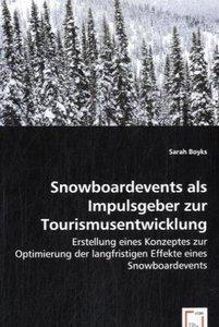 Snowboardevents als Impulsgeber zur Tourismusentwicklung
