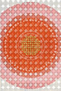 Premium Textil-Leinwand 80 cm x 120 cm hoch Punkte, Orange und