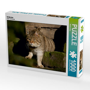 Wildkatze 1000 Teile Puzzle quer