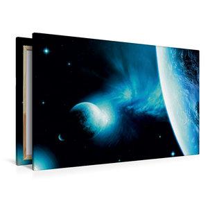 Premium Textil-Leinwand 120 cm x 80 cm quer Galaxie NCR 21