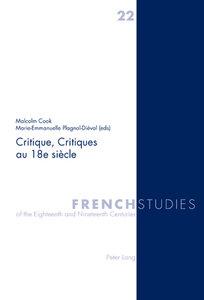 Critique, Critiques au 18e siècle